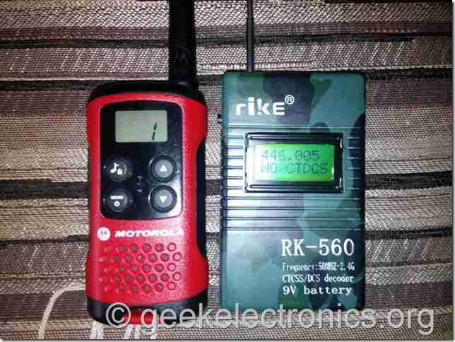 частотомер субтоны СTCSS RK 560 DCS  elektronika