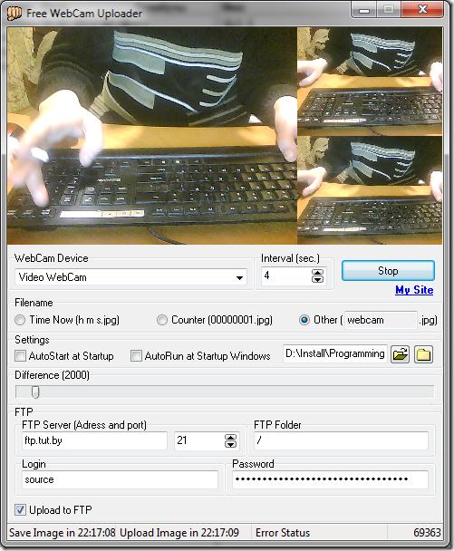 Free WebCam Uploader