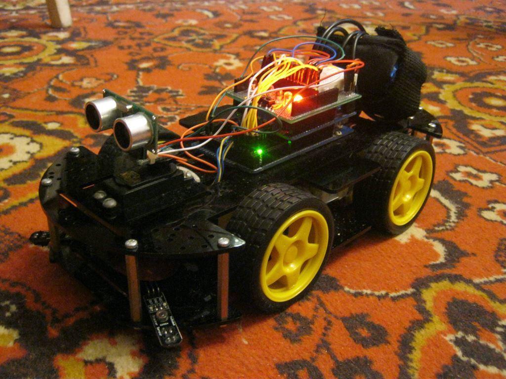Ведроид-мобиль — робот на Arduino — Часть 4. Подключаем ультразвуковой дальномер