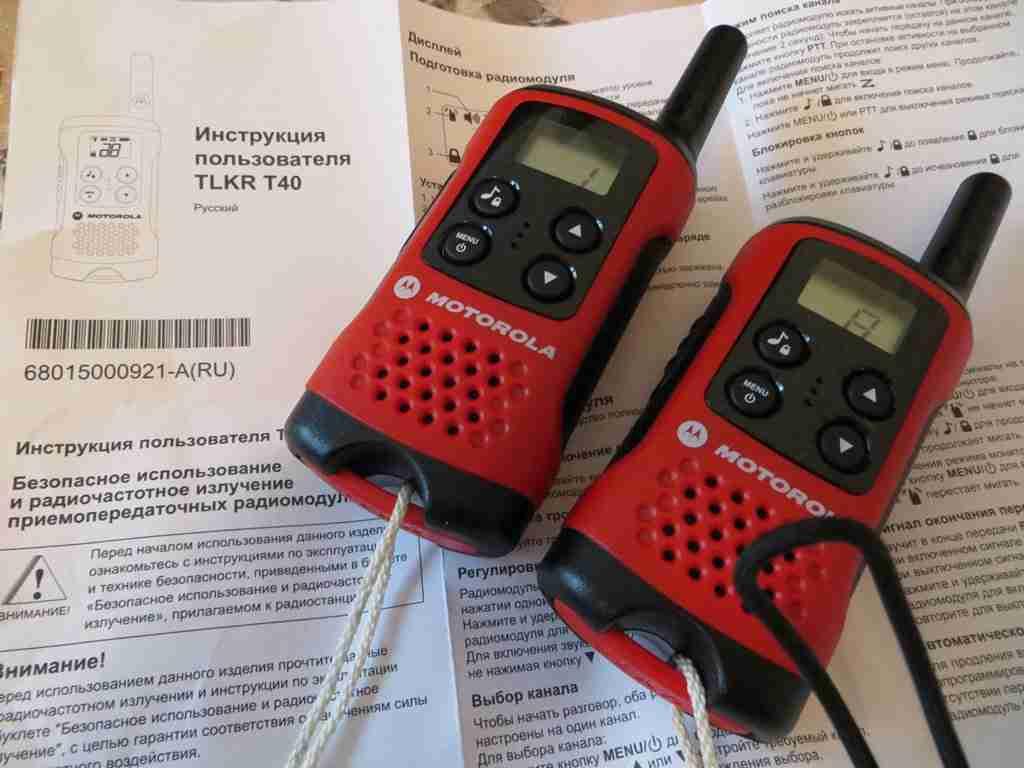 Обзор радиостанции Motorola TLKR T40