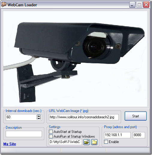 WebCam Loader
