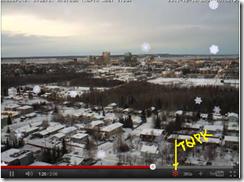 Снежинки на видео YouTube